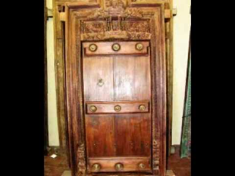 Antique wooden indian doors and windows youtube for Wooden doors and windows