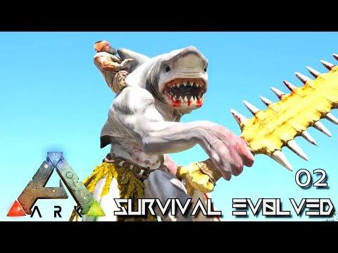 ARK: SURVIVAL EVOLVED - WereSHARK PEOPLE TIBUR & FIRST FLIGHT E02 !!! ( PRIMAL FEAR PYRIA )