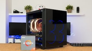 AMD Ryzen 1700 Build ft. Anidees Crystal Cube Gaming PC