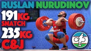 Ruslan Nurudinov (110) - 191kg Snatch + 235kg Clean and Jerk