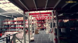 Паллетные стеллажи и мезонин для комбинированного хранения товаров на складе(На видео представлен реализованный проект склада стройматериалов оборудованный паллетными стеллажами..., 2016-02-26T10:06:25.000Z)