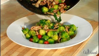 SMOKED BACON AND BRUSSELS SPROUTS