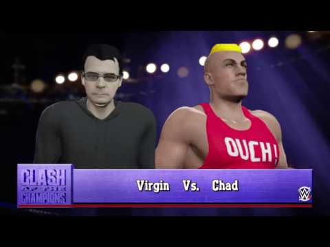 The Chad Superstar vs The Virgin WWE 2K16 Player