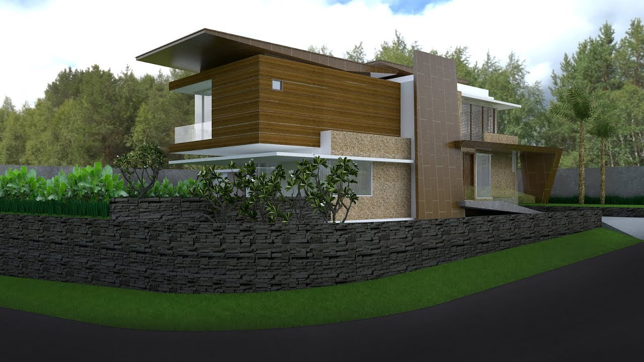 Sketchup House Exterior Design 3 Render With Vray 3 4