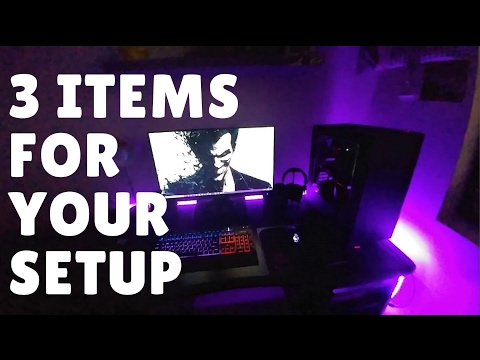 RGB LED Lights, Headphone Stand and Cable Organisor