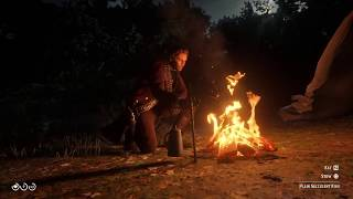 Red Dead Redemption 2 (PS4) - Getting Threatened by the Murfree Brood While Camping
