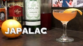 Japalac - A Vintage Cocktail With Rye Whiskey, Dry Vermouth, Raspberry Syrup & Oj
