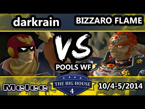 The Big House 4 - Bizzarro Flame (Ganondorf) Vs. Darkrain (Captain Falcon) - Pools Round 2 - SSBM