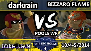 TBH4 - Bizzaro Flame (Ganondorf) Vs darkrain (Captain Falcon) SSBM Pools LF - Melee