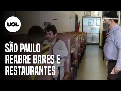 SÃO PAULO TEM PRIMEIRO DIA DE REABERTURA DE BARES E RESTAURANTES AINDA TÍMIDO