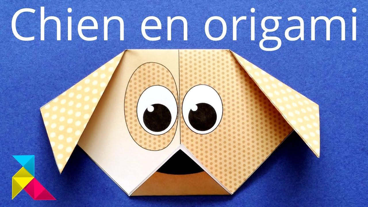 T te de chien en origami facile en 4 plis youtube - Video de origami facile ...
