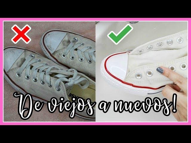 lapso representación algodón  Cómo limpiar tus Converse blancas: los mejores trucos
