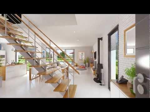 Lumena - Maison lumineuse à toit plat du constructeur Maison Familiale