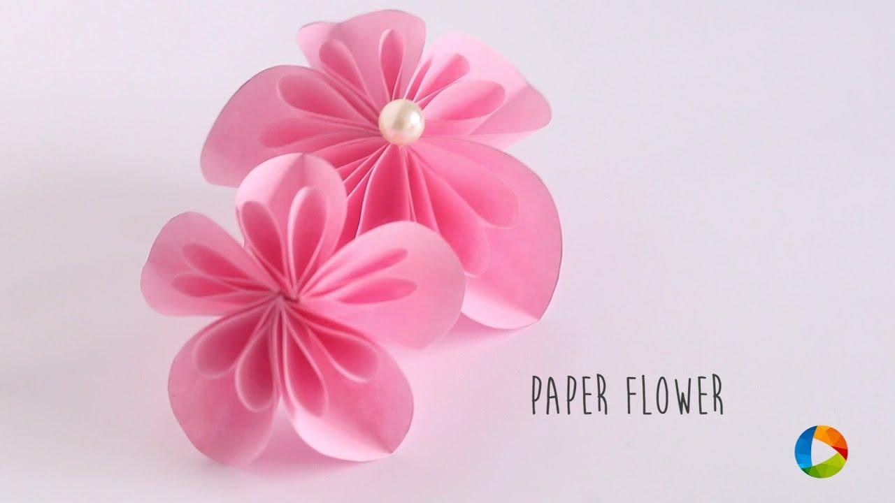 How To Make Paper Flower Kusudama Flower Youtube