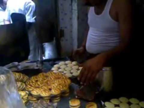 Delhi Chandni Chowk - Fresh cookies prepared indigenously  Siddhaswarupananda Pal tour