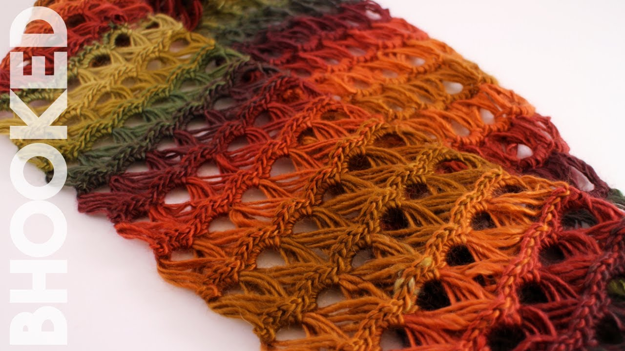 How To Crochet A Scarf Broomstick Lace Infinity Scarf