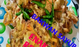 cara & resep bakwan sayur crispy mudan dan enak