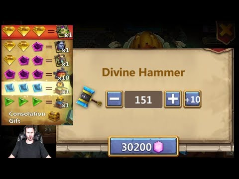 300 Thunder Gods Hammer Slots For Skeletica Pumpkin Duke Scraps Castle CLash