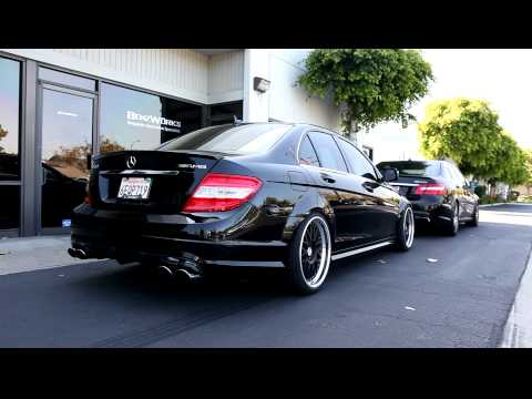 C63 by BenzWorks - Long-Tube Headers, X-Pipes, OE-Tuning - YouTube