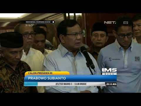 Prabowo Subianto Meminta Ratna Sarumpaet Untuk Bertanggung Jawab Atas Kebohonganya- IMS