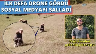 Hayatında İlk Defa Drone Gören Adamın Tepkisi Sosyal Medyayı Salladı