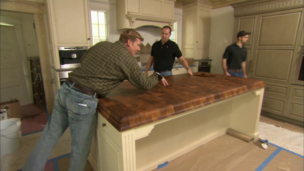 Grothouse Butcher Block Countertop In This Old House Newtown Ma Project 2007 Youtube