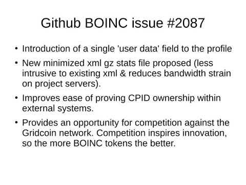 CM's Gridcoin presentation at the 2017 BOINC Workshop in Paris