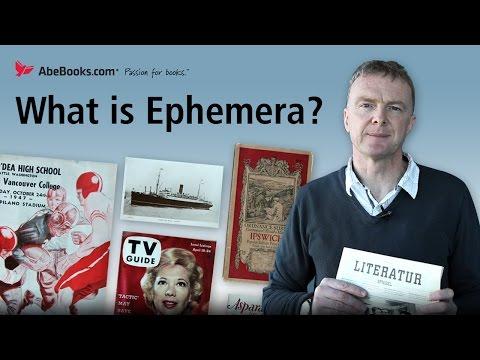 What is Ephemera?