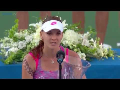 Agnieszka Radwanska 2016 Connecticut Open Final Speech