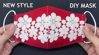 New Style Diy Breathable Face Mask Easy Pattern From Dish Sewing Tutorial Beautiful Lace Mask