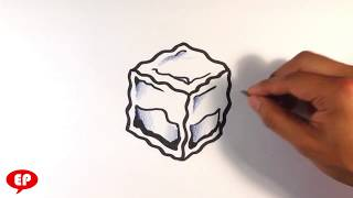 How to Draw an Ice Cube - Easy Pictures to Draw