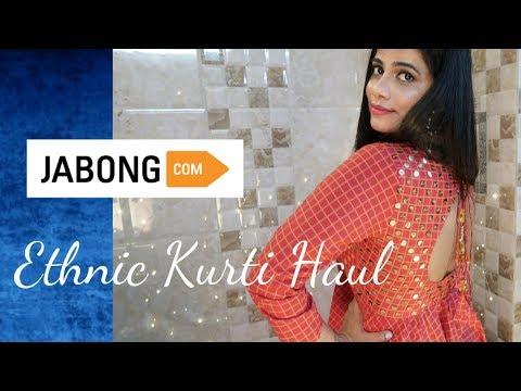 JABONG ETHNIC KURTA HAUL / Brand & Website Comparison || Sana K