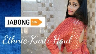 JABONG ETHNIC KURTA HAUL / Brand & Website Comparison || Sana K