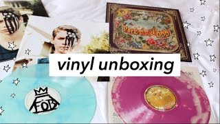 FALL OUT BOY AND PANIC! AT THE DISCO VINYL UNBOXING ! ♡ (colored vinyls)