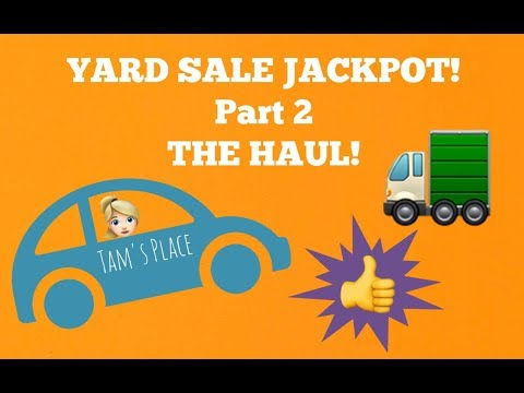 YARD SALE JACKPOT! The haul, including massive amounts of JEWELRY! Part 2