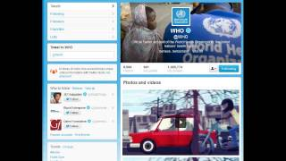 World Health Organization and Social Media