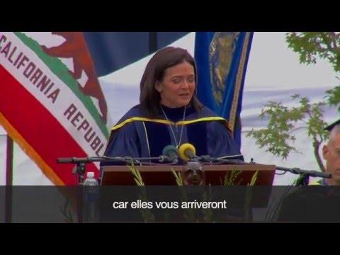 Sheryl Sandberg Facebook discours de UC Berkeley