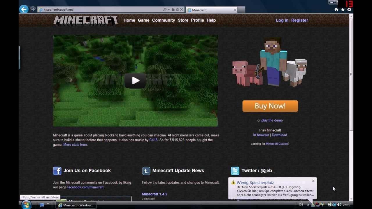 Wie Kann Man Sich Minecraft Kostenlos Kaufen YouTube - Minecraft kostenlos spielen ohne kaufen