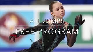 Free program Kamila Valieva Russian figure skating championships all jumps
