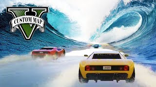 WELLEN PARKOUR SKILL RACE (+DOWNLOAD) | GTA 5 ONLINE - CUSTOM MAP RENNEN | LPmitKev
