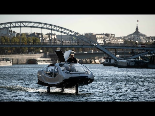 'Flying taxi' tested on the Seine river in Paris