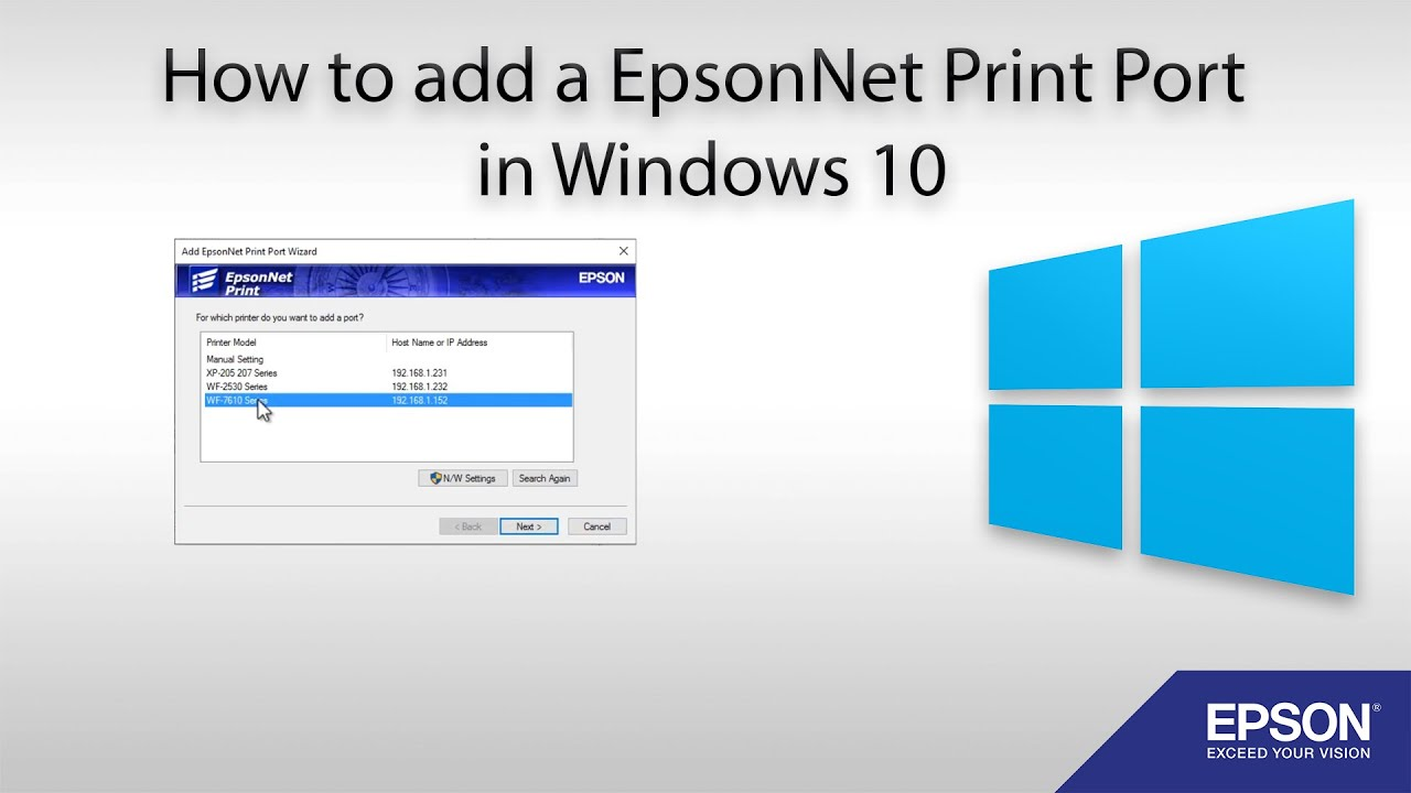 NEW DRIVERS: EPSONNET SETUP CANNOT FIND PRINTER