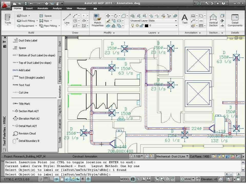 annotating drawings autocad mep 2011 youtube. Black Bedroom Furniture Sets. Home Design Ideas
