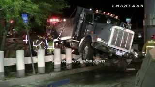 5 Trapped 2 Die in Dump Truck Rollover / Cajon Pass   RAW FOOTAGE