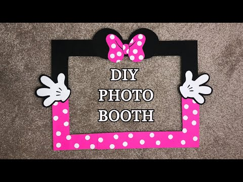 Minnie Mouse Photo Booth Frame DIY || Minnie Mouse Selfie Frame || DIY Photo Booth Frame