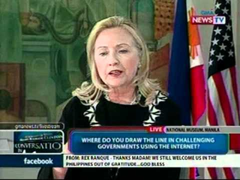A Conversation in Manila with US State Sec. Hillary Clinton