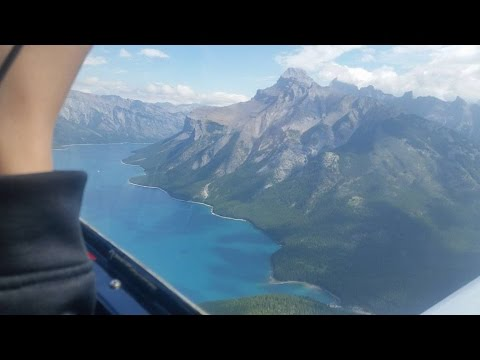 Flight Around Calgary City (Alberta, Canada)
