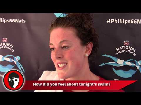 Allison Schmitt - The double taper really shows me where I am