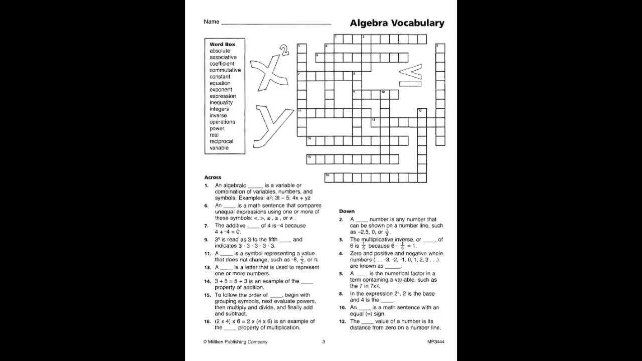 worksheet. Milliken Publishing Company Worksheet Answers ...