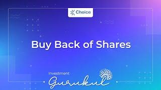Buy Back of Shares - Investment Gurukul